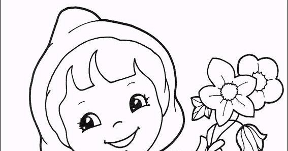 Dibujos animados para colorear: Dibujos para colorear de caperucita roja