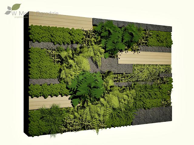 modern, vertical, garden, design, ogród wertykalny