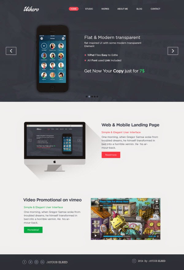 Free One Page Website (Free Download)