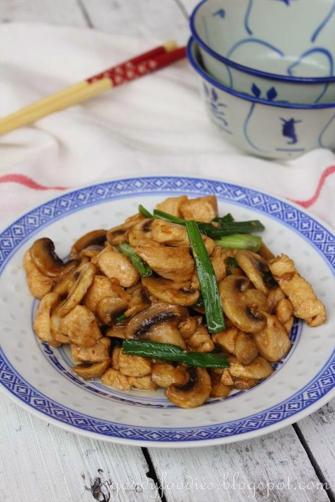 chicken and mushrooms chinese recipe