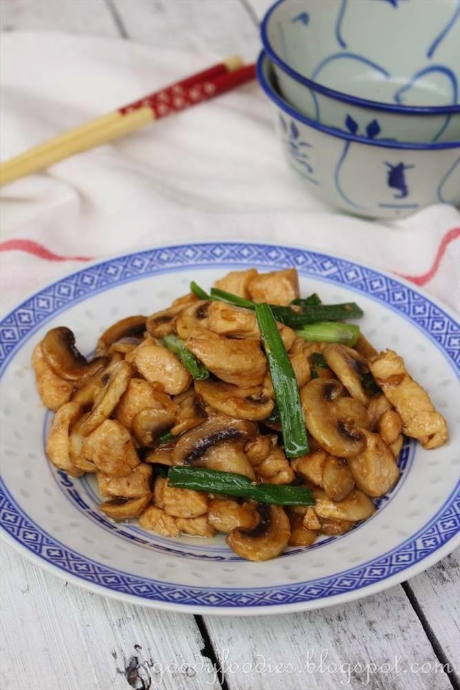 chicken and mushrooms chinese recipe