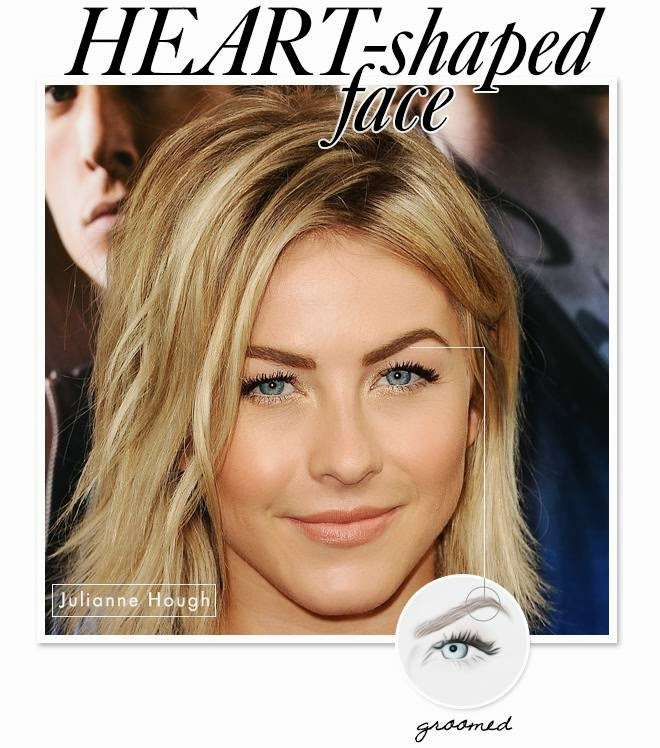 heart eyebrow shape julianne hough