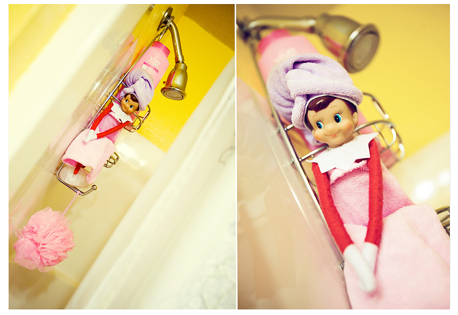 100 mischievous elf ideas design dazzle for Elf on the shelf bathroom ideas