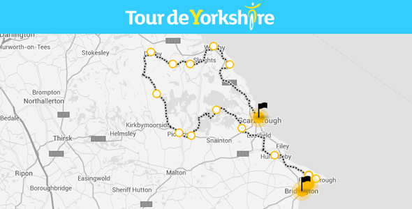 Tour de Yorkshire Stage 1 Route