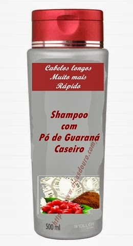 pó de guaraná no shampoo, shampoo com pó de guaraná para acelerar o crescimento dos cabelos