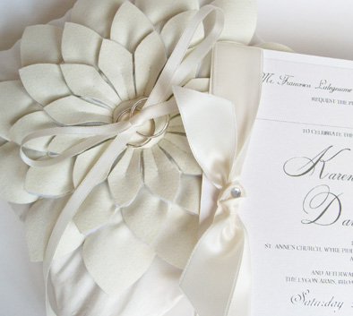 ELEGANT IVORY WEDDING INVITATIONS