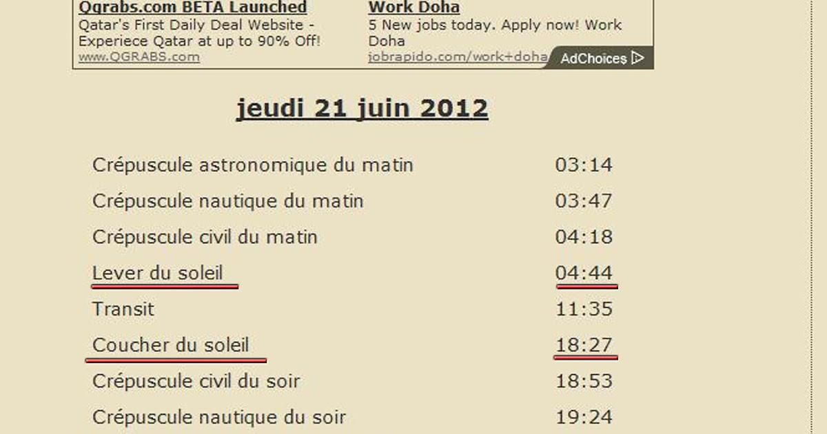 Histoires de jour le plus long - A quelle heure le soleil se couche aujourd hui ...