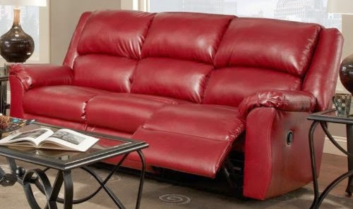 Top Seller Reclining And Recliner Sofa Loveseat: Red Leather ...