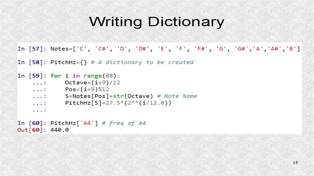 Audio Programming In Python 10 Python Dictionaries