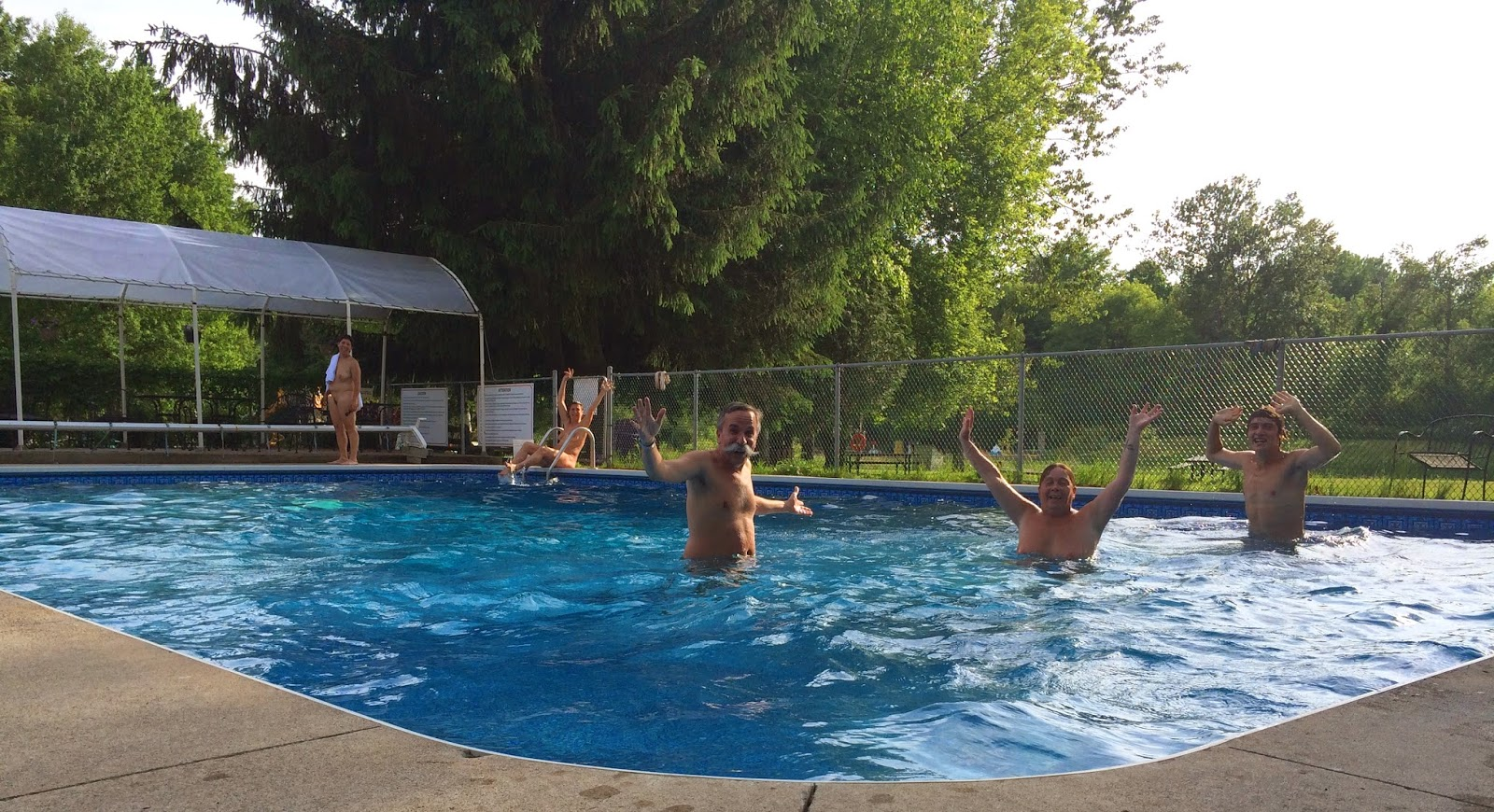 The pool at Bare Oaks Family Naturist Park