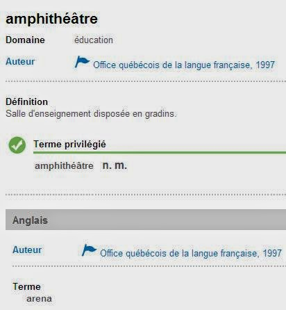 Linguistiquement correct amphith tre - Office de la langue francaise dictionnaire ...