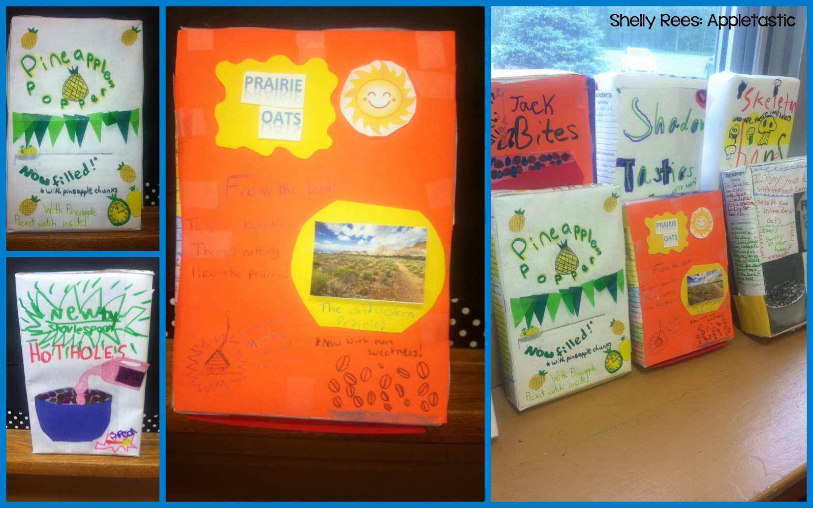 cereal box project book report So, i have not a creative mind at all today my son has a cereal box book report that he has to do he has been reading junie b jones and her big fat mouth.