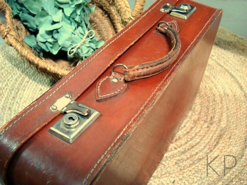 Comprar maleta antigua cuero