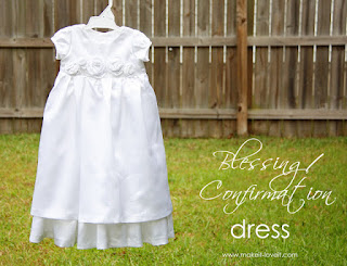 Blessing dress sewing tutorial