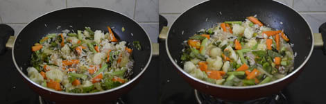 how to prepare vegetable rice
