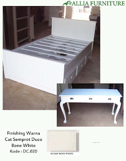 Contoh Furniture Semprot Duco Bone White