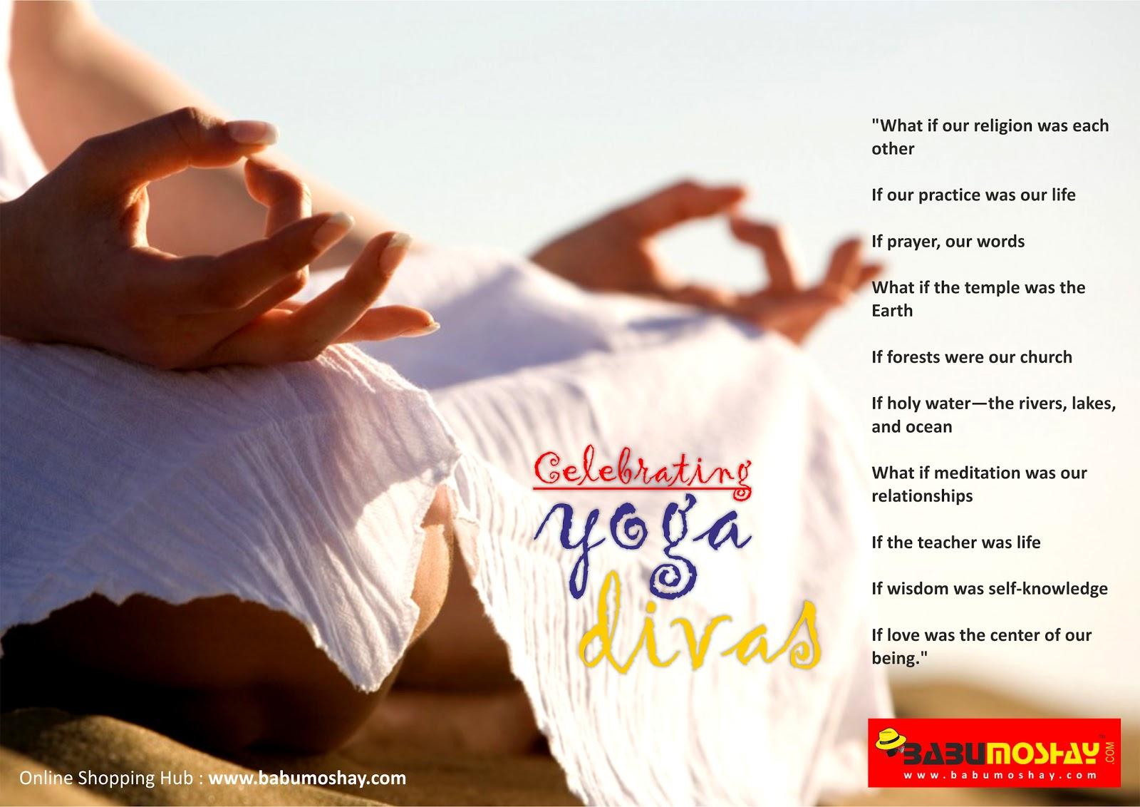 Babumoshay Blog Information for Online Shopping Celebrating YOGA