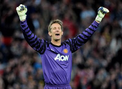 Van der Sar Manchester United vs Schalke 04 Champions League