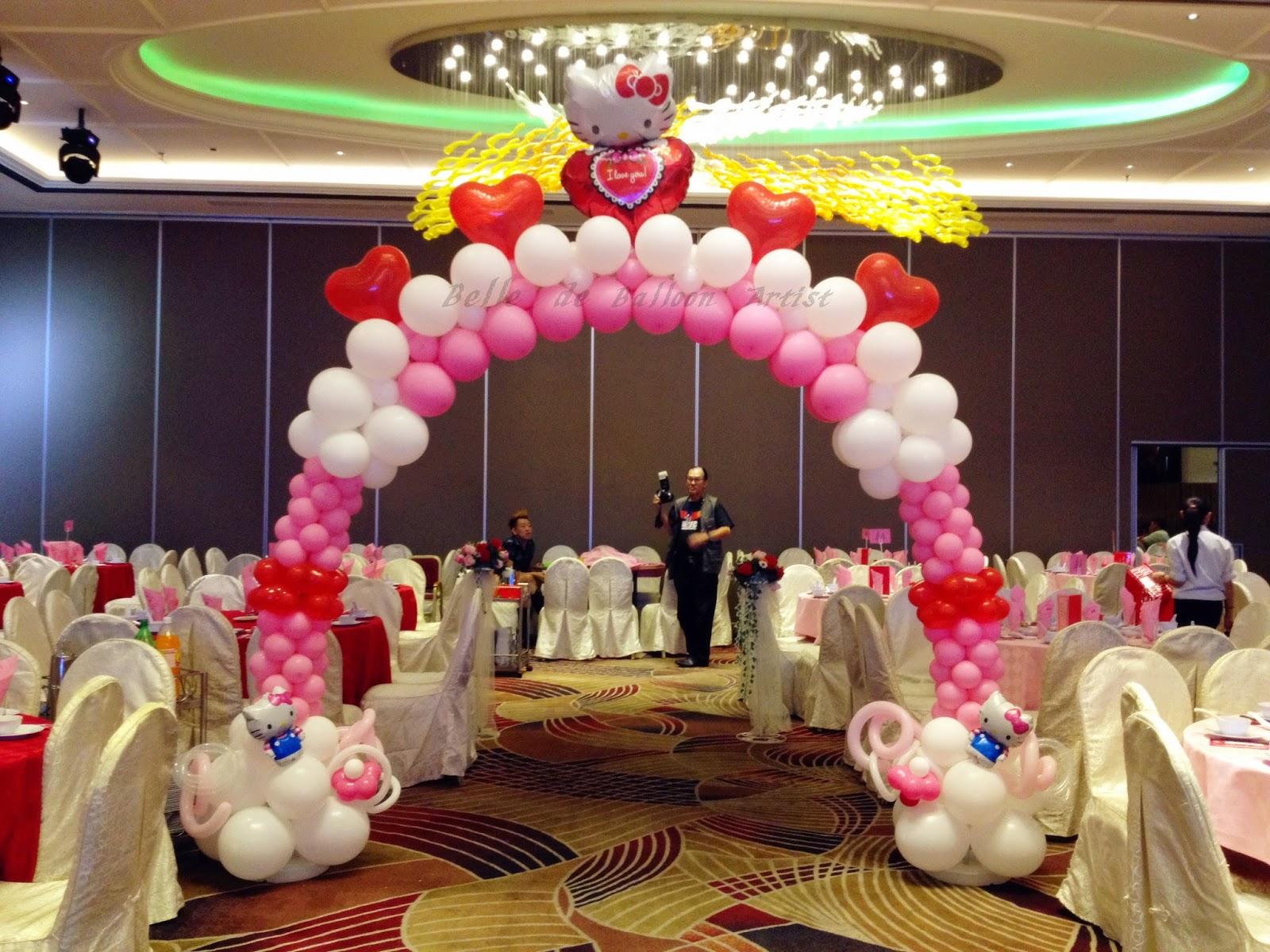 Belle de balloon artist hello kitty fans must view hello for Balloon decoration for wedding malaysia
