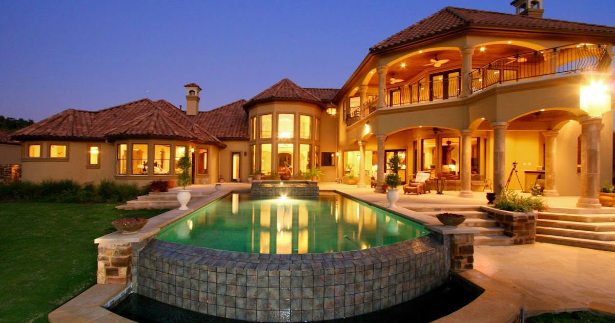Mediterranean house plans with pools Mediterranian homes