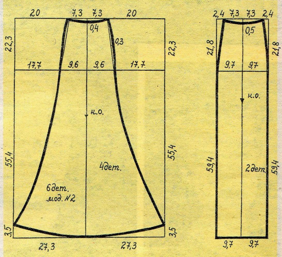 Как сшить юбку из трикотажа 25