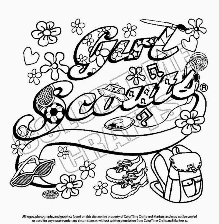 Girl scout coloring sheets free coloring sheet for Printable girl scout cookie coloring pages