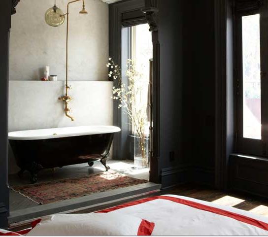 Nostalgia And Now Black Bathrooms