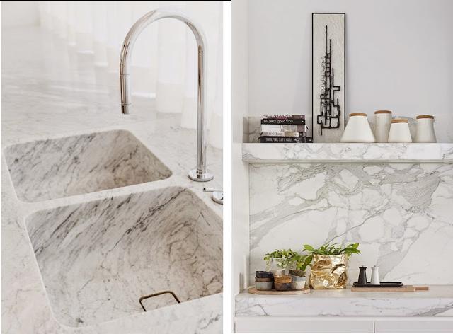 Decoraconmar a moda para el hogar marmol blanco for Marmol blanco con vetas negras