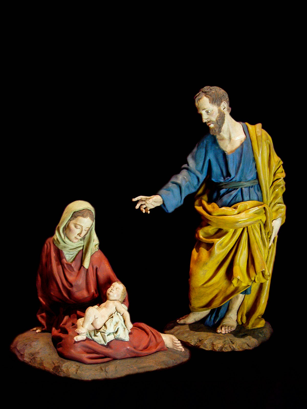 Nacimiento Belén Nativity krippe presepe Arturo Serra Gómez Barro cocido 12
