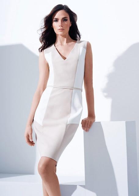beyaz, krem renk elbise