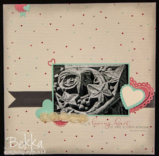 More Amore Scrapbook Page by Stampin' Up! Demonstrator Bekka Prideaux - check out her Scrapbook Pages every Saturday
