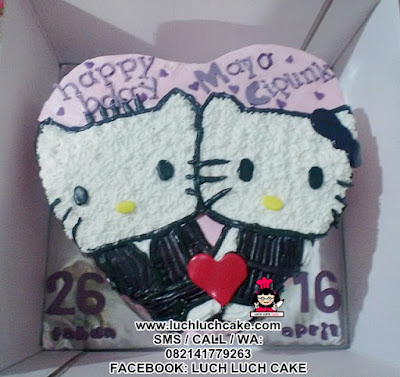 Kue Tart Love Hello Kitty Romantis