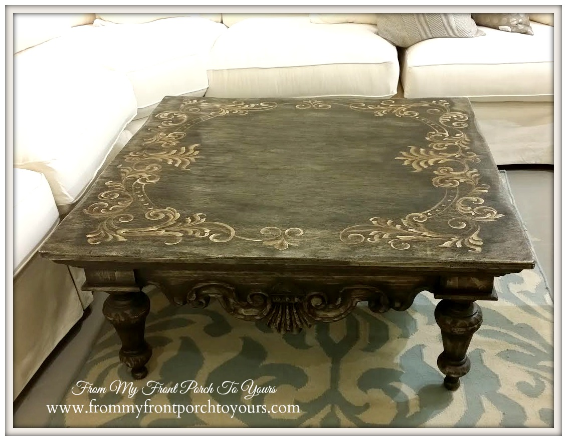 Laurie's Home Furnishings-Handpainted Coffee Table- From My Front Porch To Yours