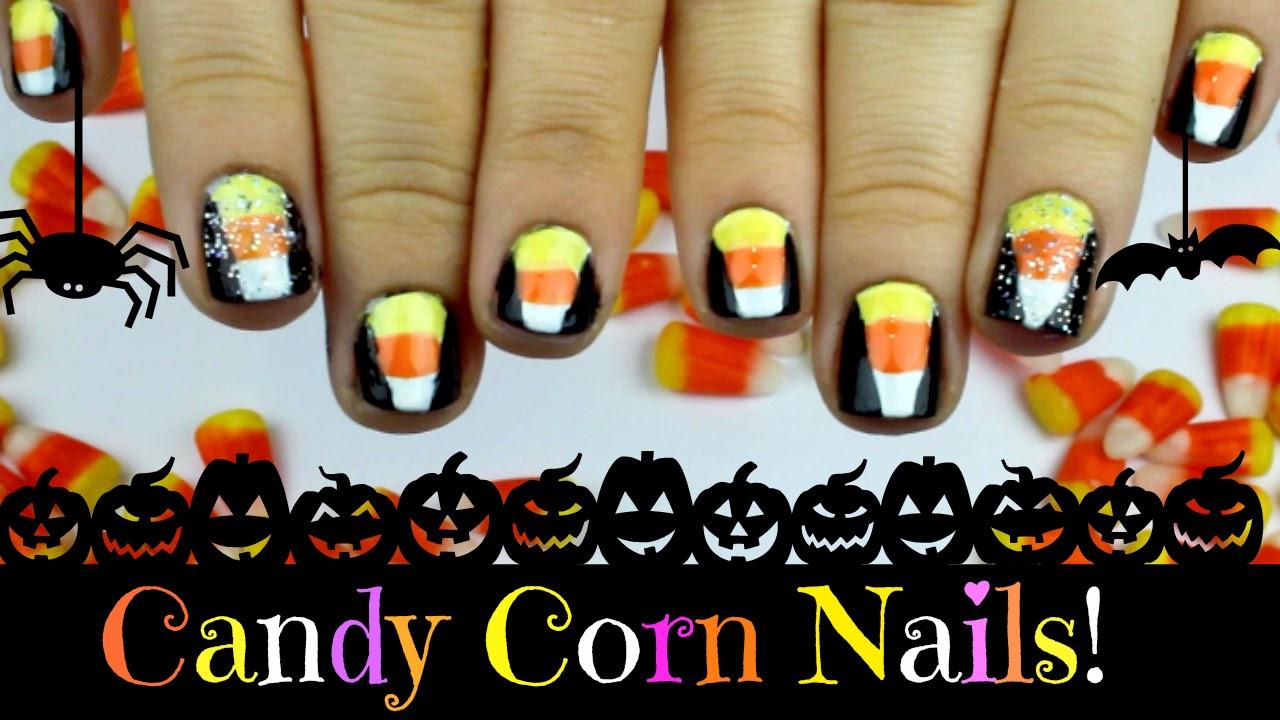Candy Corn Nail Art A Halloween Tutorial Starryeyedglamour