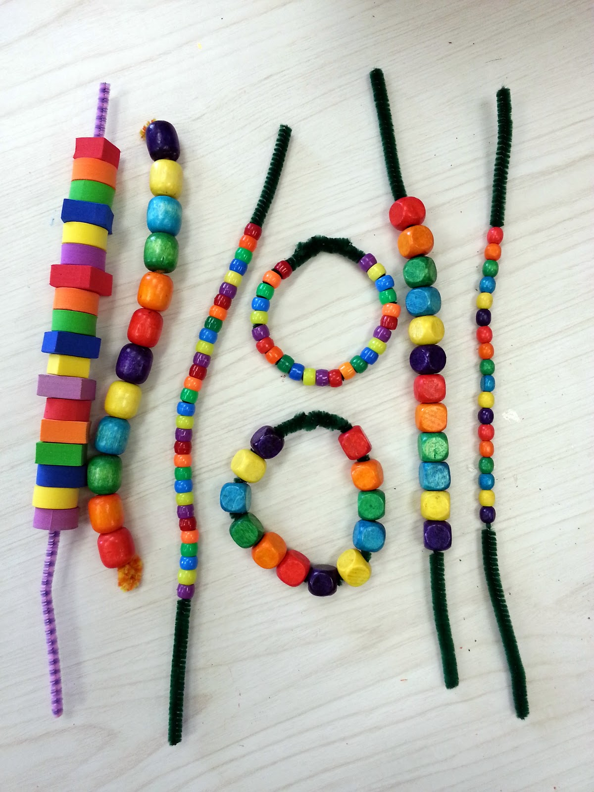 Choices for children rainbow patterning activities for st for Bead craft for kids