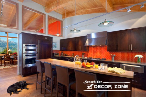 Orange kitchen decor  20 ideas and designs