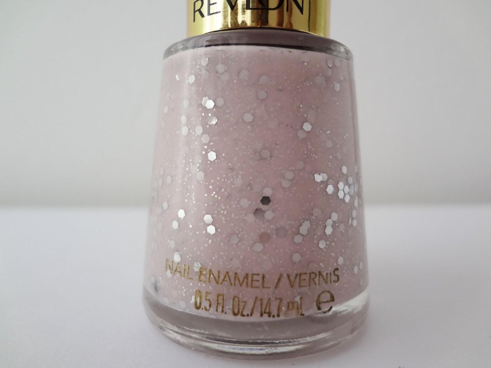 Revlon Pink Glitter Nail Polish Milky Glitter Nail Polish
