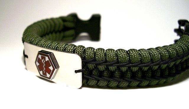 Stitched Paracord Bracelet Woven Paracord Bracelet