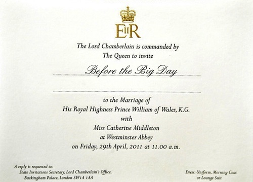 royal wedding invitation image. royal wedding invitation kate