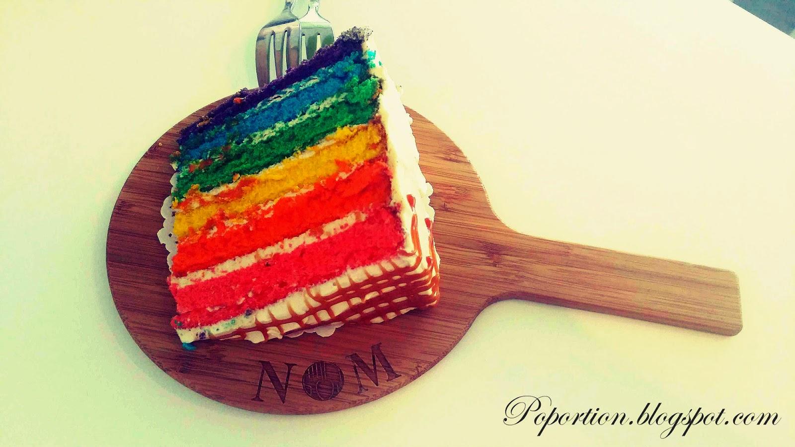 rainbow cake salted caramel