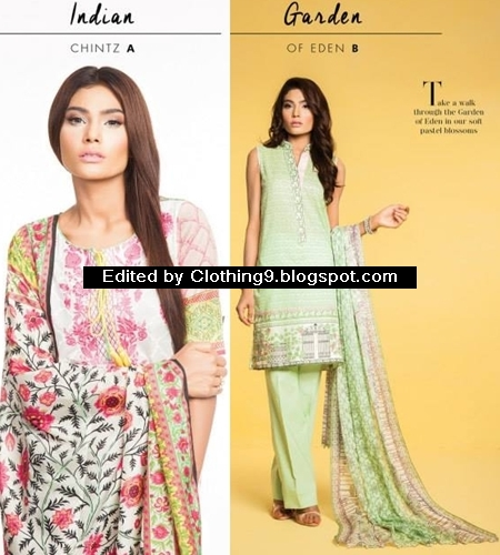 Sapphire Eid Lawn Dresses Collection 2015