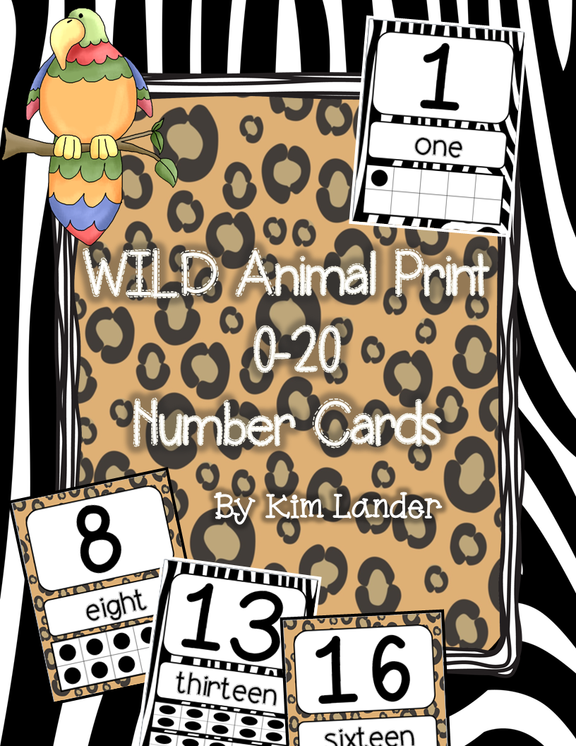 http://www.teacherspayteachers.com/Product/WILD-animal-print-number-cards-0-20-1262820