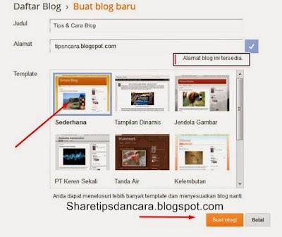 Buat Blog Di Blogger Lengkap Dengan Gambar2