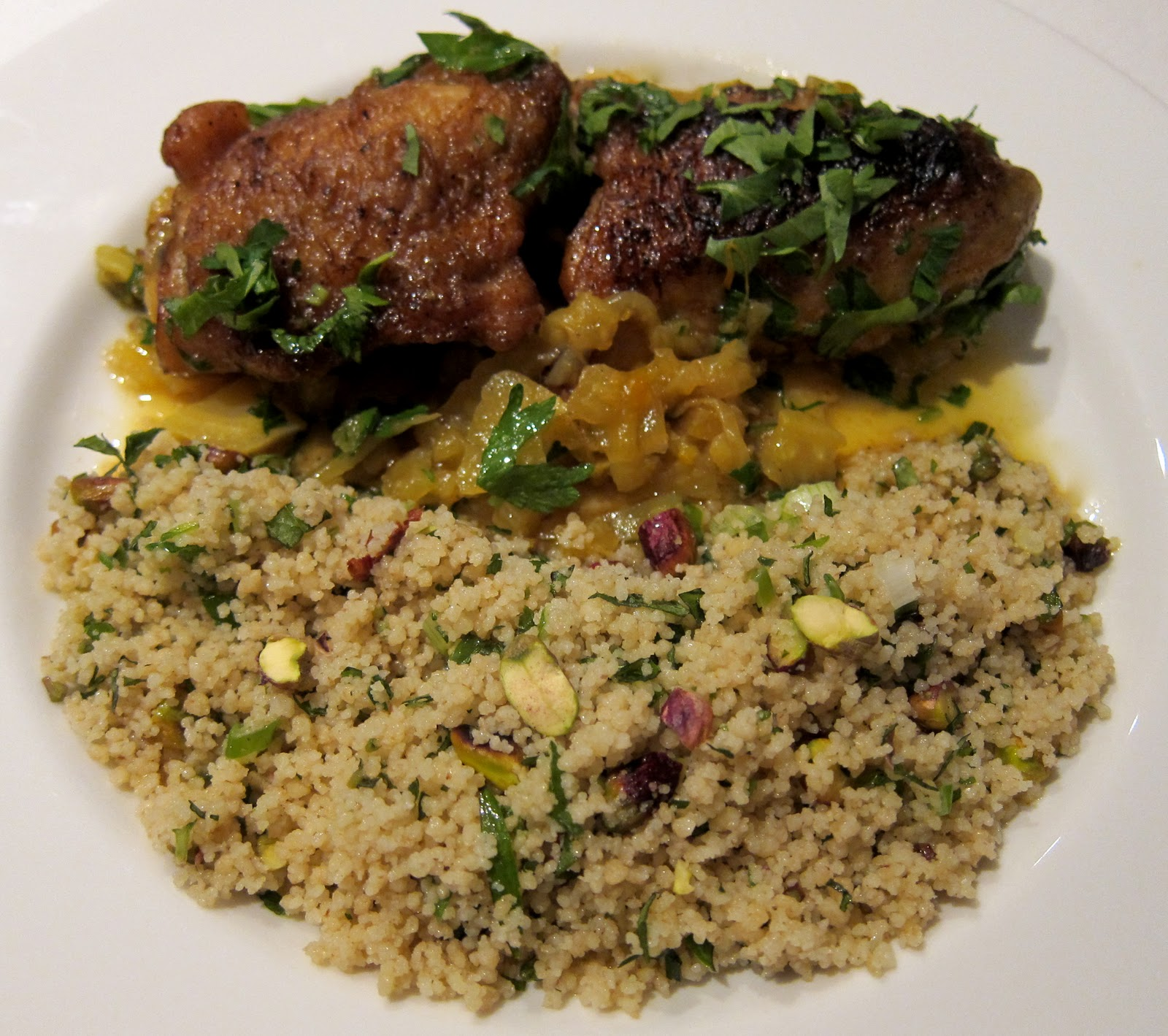 moreterriers: Braised Chicken with Saffron and Preserved Lemons