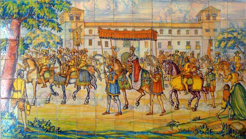 Monumentos de valladolid los azulejos del palacio de pimentel - Azulejos pena arganda del rey ...