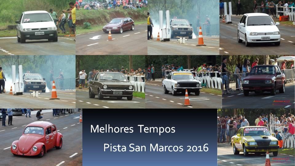 Melhores tempos Pista San Marcos 2016