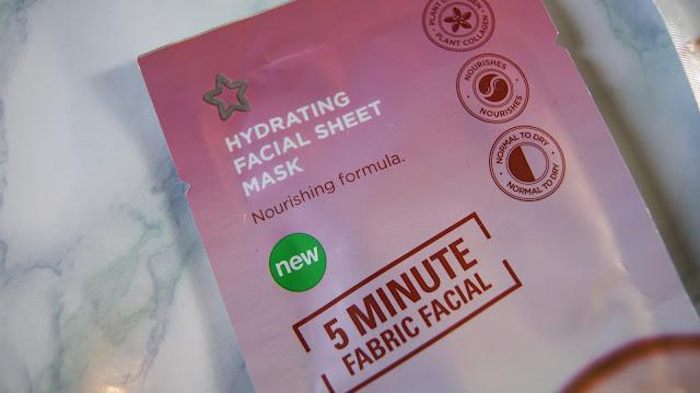 Superdrug Hydrating 5-Minute Facial Sheet Mask