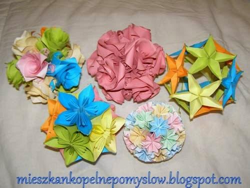 bombki z papieru, dekoracje, dekoracje z papieru, dekoracje świąteczne, kula kusudama, kula z papieru, origami, origami modułowe, składanie papieru,