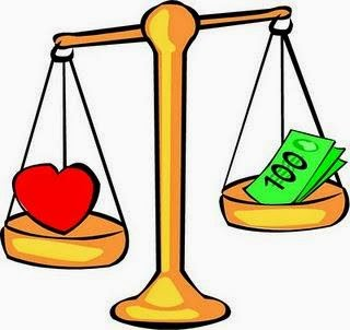 Which is better love or money essay