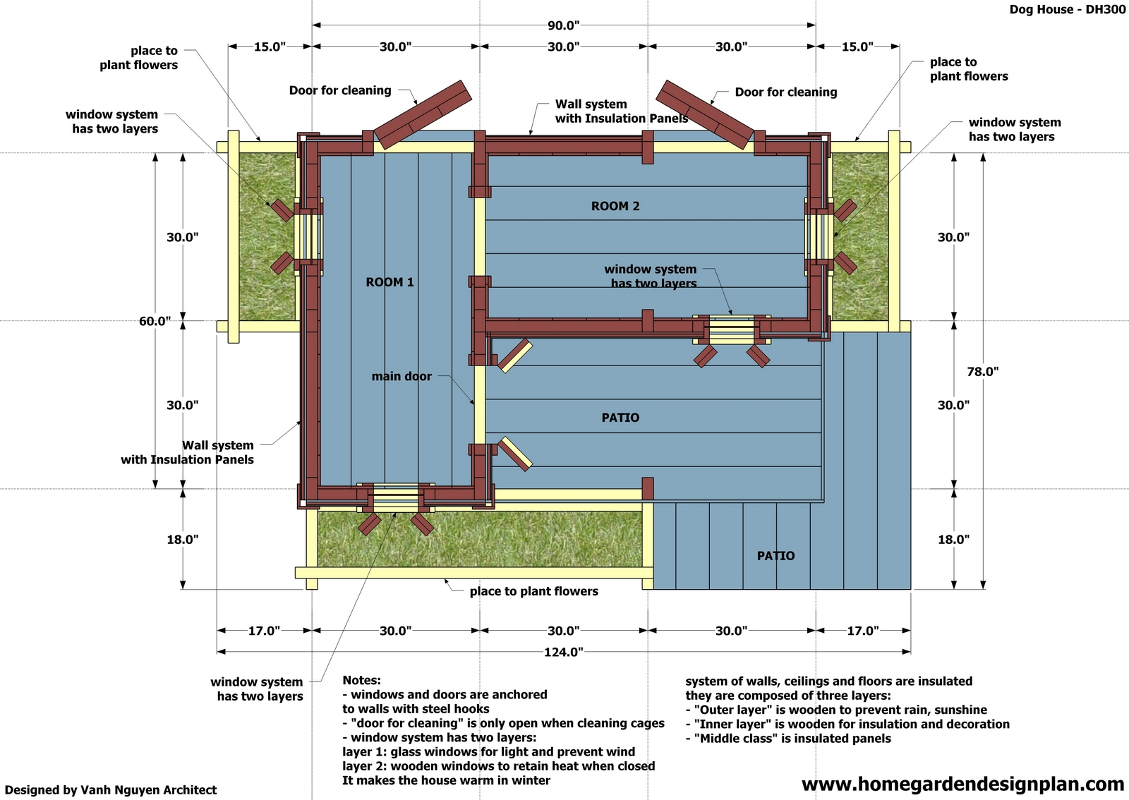 Free easy large dog house plans for Insulated dog house plans pdf